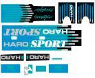 1988 Haro Freestyler SPORT decal kit BLACK / BLUE