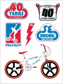 SE Racing Mike Buff PK Ripper commemorative sticker set
