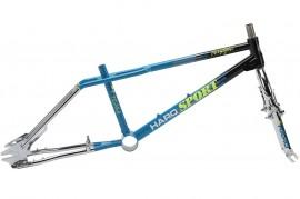 "2017 Haro *1987 Vintage Series* 20"" Sport frame & fork kit BLACK/TEAL/CHROME"