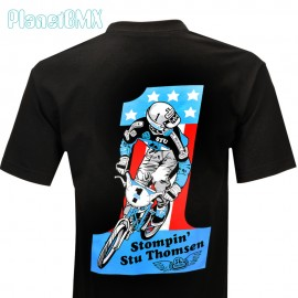 "SE Racing ""STOMPIN STU"" #1 T-Shirt BLACK"