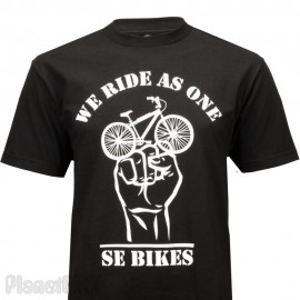 "SE Racing ""WE RIDE AS ONE"" T-Shirt BLACK"