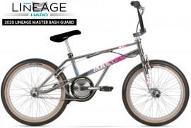 "2020 Haro 20"" Lineage Master Bashguard Freestyler Bike (20.75"" TT) SMOKED CHROME"