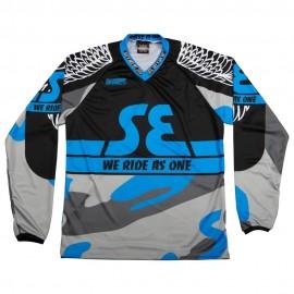 SE Racing Bikelife Jersey BLACK / BABY BLUE / URBAN CAMO