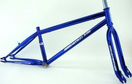 """Skyway 24"""" T/A XL Pro Cruiser Frame / Fork / Bar set CANDY CHROME BLUE"""