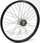 """20""""x1.75"""" SE Racing Sealed Bearing Wheelset BLACK rim SILVER hubs"""