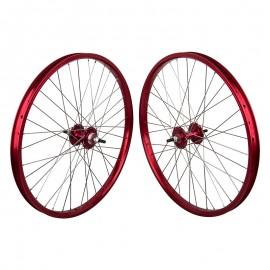 "24""x1.75"" Sealed Bearing Alloy Wheelset RED"