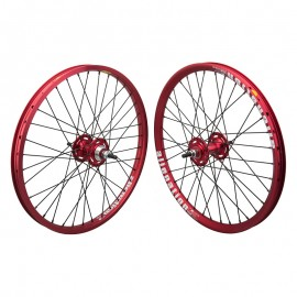 "20""x1.75"" Alienation Sealed Bearing Racing Wheelset RED"
