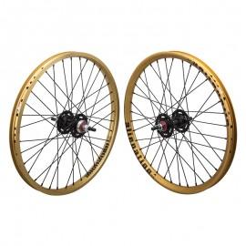 "20""x1.75"" Alienation Sealed Bearing Racing Wheelset GOLD / BLACK"