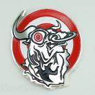 Bullseye Seatpost Tube Alloy Badge RED/WHITE/SILVER