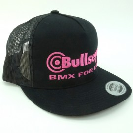 "Bullseye ""BMX For Life"" Snapback Hat BLACK / PINK"