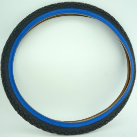"""26"""" Chaoyang H-576 2.125"""" tire BLACK with BLUE, PINK, or RED SIDEWALL"""