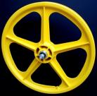 "YELLOW 20"" Skyway TUFF WHEEL II SET- Freewheel"