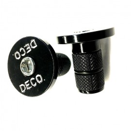 Deco 6061 Alloy Bar Ends BLACK