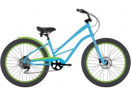 DelSol 2019 Railer Plus Step-Through 7-Speed Cruiser BLUE LIME