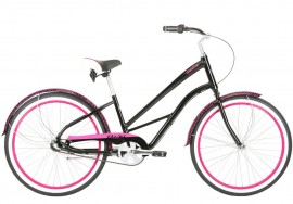DelSol 2019 Shoreliner Step-Through 3-Speed Cruiser BLACK/PINK
