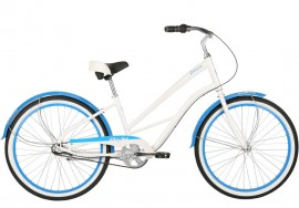 DelSol 2019 Shoreliner Step-Through 3-Speed Cruiser SPARKLE WHITE/BLUE