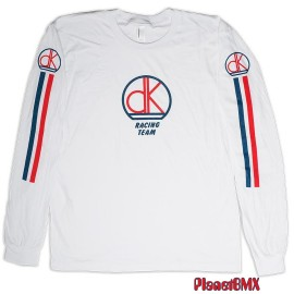 DK Retro Race Long Sleeve t-shirt Practice Jersey WHITE