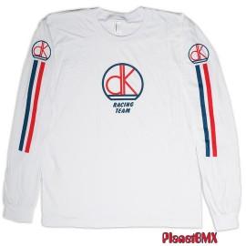 DK Retro Race Long Sleeve t-shirt Practice Jersey WHITE