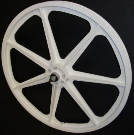 "WHITE 24"" Skyway TUFF WHEEL SET- Freewheel"