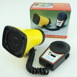 70's-style 3 Sound Electronic Siren Horn with Microphone