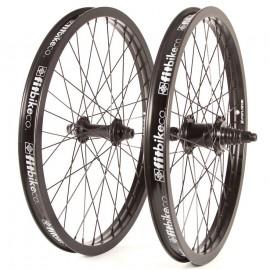 "20"" Fit 9T Freecoaster wheelset RHD w/ BLACK Rims & Hubs"