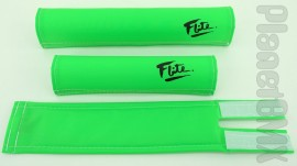 FLITE old-school pad set (80's logo) NEON GREEN