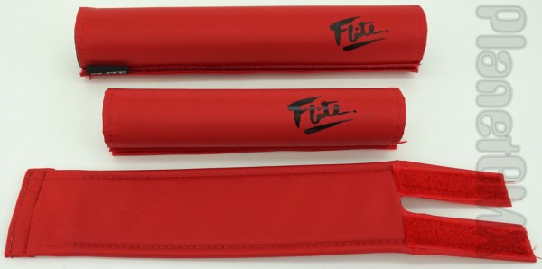 80/'s Logo Red with White Flite BMX Pad Set