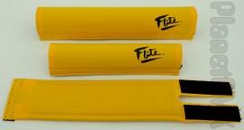 FLITE old-school pad set (80's logo) YELLOW