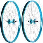 "26""x1.75"" Haro Sealed Bearing Alloy Wheelset TEAL BLUE"