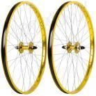 """26""""x1.75"""" Haro Sealed Bearing Alloy Wheelset GOLD"""