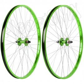 "29"" Haro Sealed Bearing Alloy Wheelset GREEN"