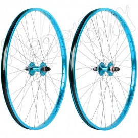 "29"" Haro Sealed Bearing Alloy Wheelset TEAL BLUE"