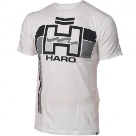 HARO retro T-shirt WHITE (gray / black)