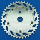 Haro Uni-Directional Spider/Chainring Combo SILVER (41T or 44T)
