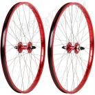 "26""x1.75"" Haro Sealed Bearing Alloy Wheelset RED"
