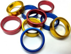 """1-1/8"""" Alloy Headset 10mm Spacers IN COLORS"""