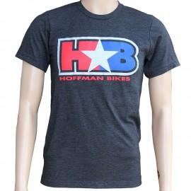 Hoffman H Star B Logo retro T-shirt CHARCOAL BLACK