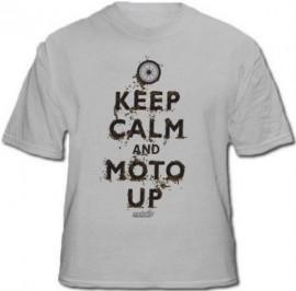 """Keep Calm and Moto Up"" t-shirt GRAY"