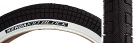 "20"" Kenda K1040 K Block 2.25 BLACK w/ WHITE SIDEWALL tire"