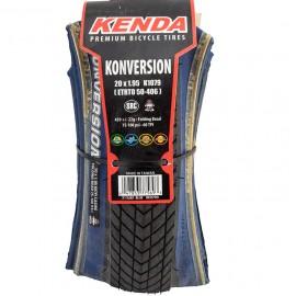 "20"" Kenda Konversion 1.95"" folding tire BLACK w/ BLUE sidewall"