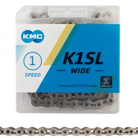 "KMC 1/8"" K1SL SuperLite Hollow Pin Chain SILVER"