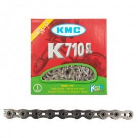 "KMC 1/8"" K710SL SuperLite Hollow Pin Chain SILVER"