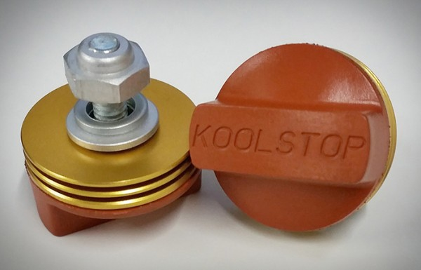 NEW Kool Stop INTERNATIONAL brake BMX pads SALMON with SILVER Cooling Fins