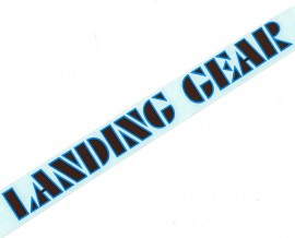 "SE ""Landing Gear"" fork decals 8.5"" BROWN w/ BLUE outline"