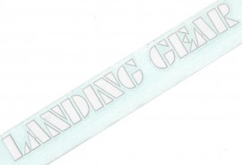 "SE ""Landing Gear"" fork decals 8.5"" PEARL WHITE w/ SILVER outline"