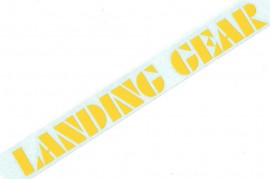 "SE ""Landing Gear"" fork decals 8.5"" YELLOW"