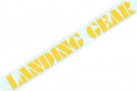"SE ""Landing Gear"" fork decals 8.5"" YELLOW"