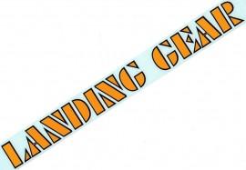 "SE ""Landing Gear"" fork decals 12"" YELLOW w/ BLACK outline"
