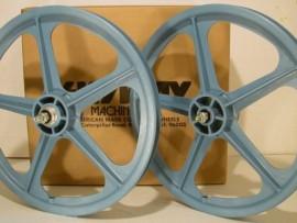 "LIGHT BLUE 20"" Skyway TUFF WHEEL II SET- Freewheel"