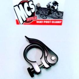 """1"""" MCS Quick Release Seatpost Clamp BLACK"""